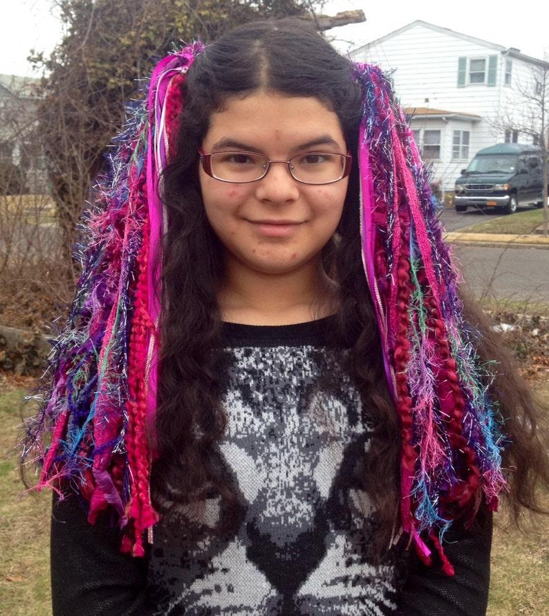 Shorter WildBerry Yarn Hair Extensions