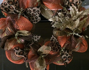 Animal Print Fall Wreath!