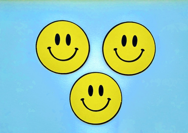 Happy Face Die Cut Paper Smiley Face Card Decoration Paper Etsy