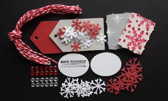 Christmas Gift Tags To Make.Christmas Gift Tag Gift Tag Making Kit Holiday Tag Kit Makes 12 Tags