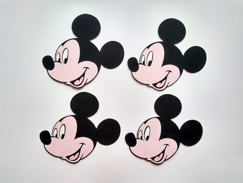 Mickey Mouse Die schneiden, Mickey Dekoration, Mickey Ausschnitt - 4er Set