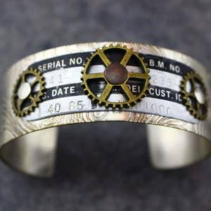 Vintage Copper Plated Industrial Cuff Bracelet Blank