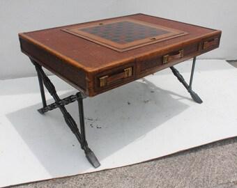Maitland  Smith  X- Base  Game Coffee Table .