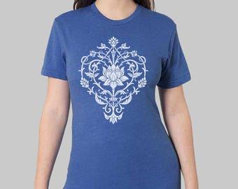 Tshirt Lotus Shirt women's plus size clothing yoga tee yoga clothes yoga tshirt tops tshirts lotus flower