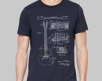 72ce58805 Mens Guitar T-Shirt // Gibson Guitar TShirt, Gift for Men, Graphic Tees for  Mens, Guitar Tee, Gifts for Men