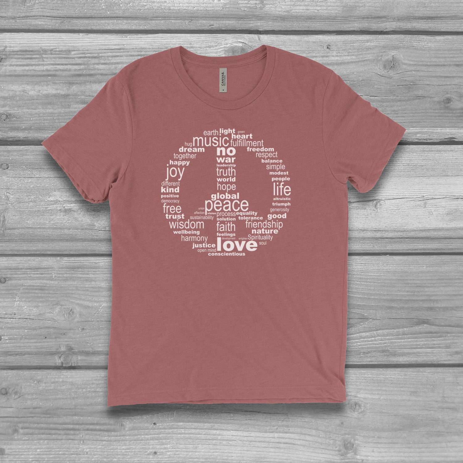 92fde5b01 Peace Sign Shirt for Women Plus Size Ladies Graphic Tees | Etsy