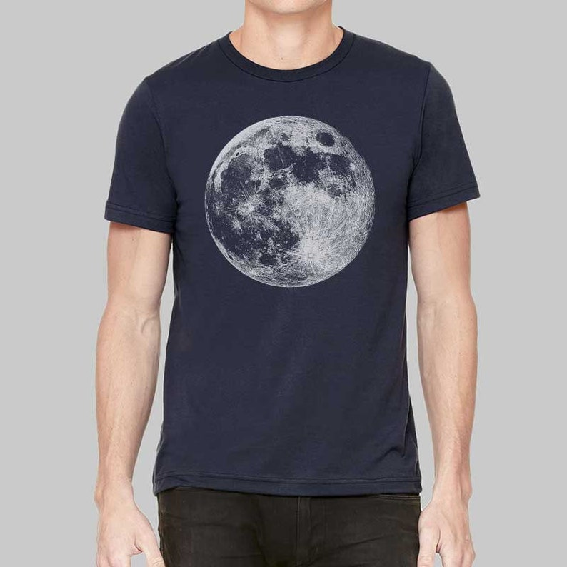 29738209 Mens Moon Shirt Graphic Tees Moon T Shirt Graphic T-shirts | Etsy
