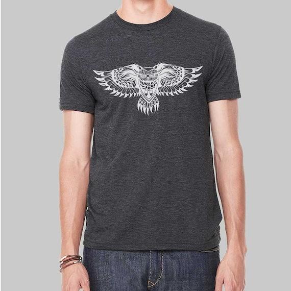 Mandala Shirt Men S M L XL 2x Owl Mandala Sweatshirt Owl Shirt Nature Shirt Tree Shirt Crewneck Yoga Shirt