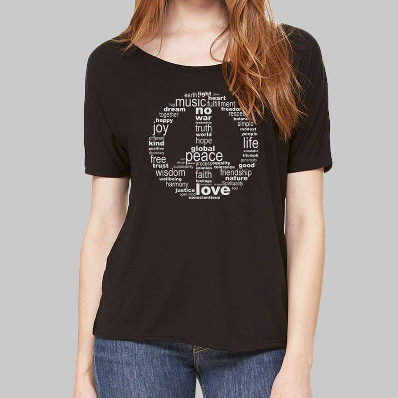 f03d0e22c Peace Sign Shirt Women Dolman Tee Young Womens Plus Size | Etsy