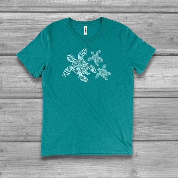 Cook Island Beach Sea Turtle Adult Tri-Blend Long Sleeve T-shirt