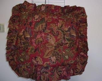 brown and burgundy ruffles