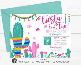 fiesta invitation etsy