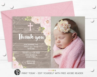 Baptism Thank You Etsy