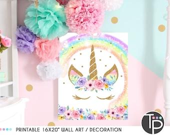 Unicorn Bedroom Decor Etsy