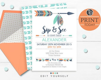 sip and see invites etsy
