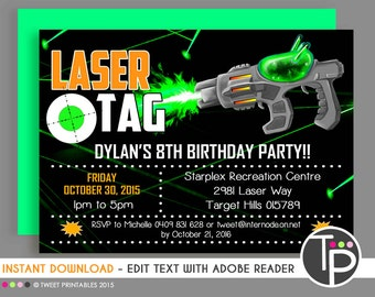 Laser Tag Party Etsy