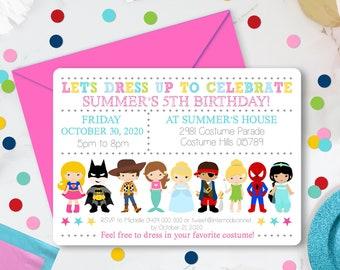 COSTUME PARTY INVITATION Instant Download Dress up Party Invitation Costume Party Invitation Kids Costume Birthday Invitation Corjl 0221