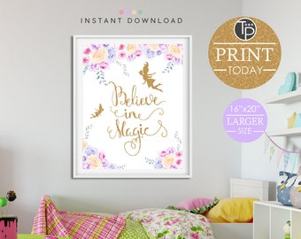 FAIRY WALL ART, Instant Download Printable Art, Fairy Print, Fairy Printable, Digital Art, Fairy Party, Nursery Print Girl, Fairy Wall Art