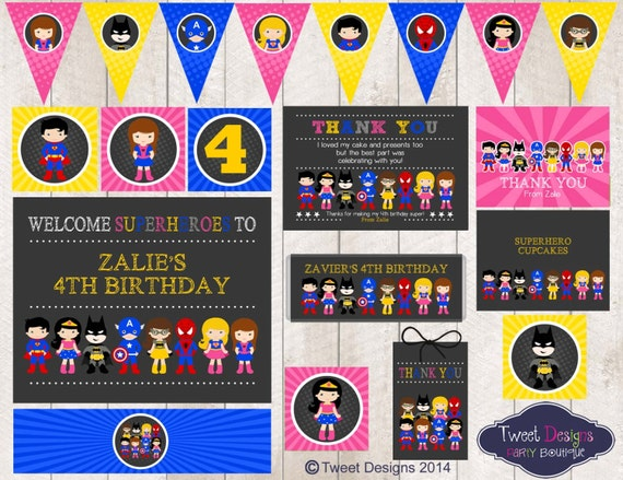 image about Free Superhero Party Printable referred to as Female SUPERHERO Bash Printable, Superhero Female Printable, Superhero Celebration, Fast down load Superhero Bash, Edit with Absolutely free Adobe Reader