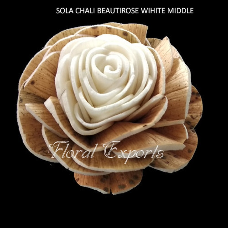 Sola Chali Beauti Rose White Middle For 100 flowers Our Minimum Order Quantity is 10 in mixing quantity \u2013