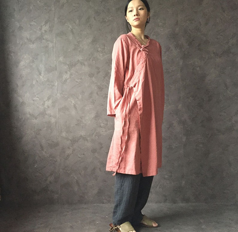 5c22e9dcb36743 Retro traditional Chinese blouse women's long sleeve shirt | Etsy