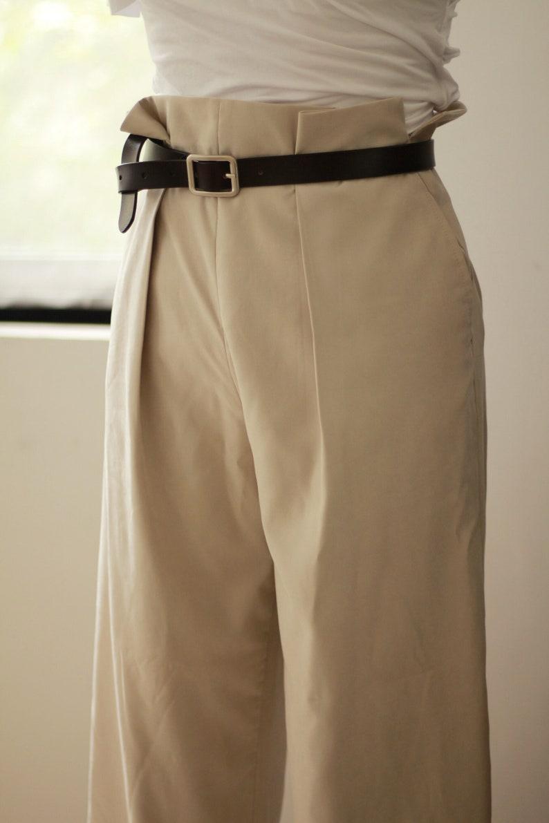 High waist wide leg pants custom size vtg design curve silhouette drape
