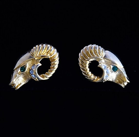 Kenneth J. Lane Ram Rhinestone Stud Earrings, Desi