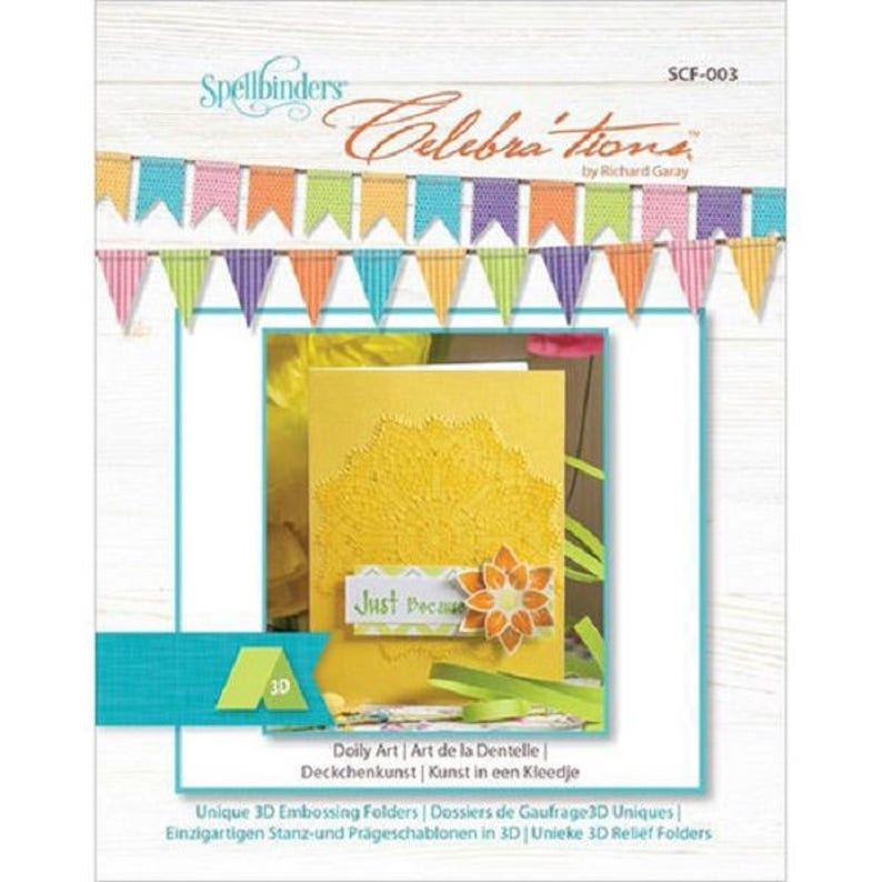 Discontinued Spellbinders 3-D Embossing Folder--Doily Art
