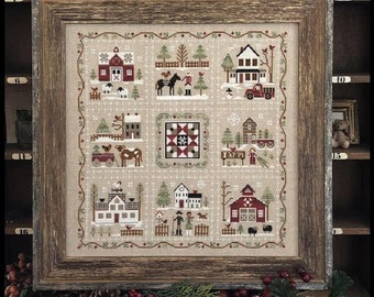 Farmhouse Christmas--Set of 9 Individual Counted Cross Stitch Patterns by Little House Needleworks--Individual Charts