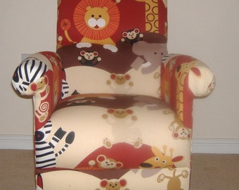 Armchairs Buy Cheap Prestigious Animals Alphabet Fabric Adult Chair Armchair Nursery Bedroom Tigers Home, Furniture & Diy