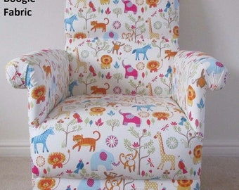 Furniture Buy Cheap Prestigious Animals Alphabet Fabric Adult Chair Armchair Nursery Bedroom Tigers Sofas, Armchairs & Suites