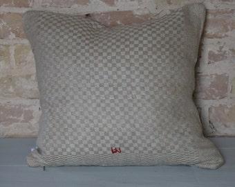 pillow from antique linen: light diamonds 45*40cm