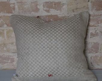 pillow case from antique linen: light diamonds 45*40cm