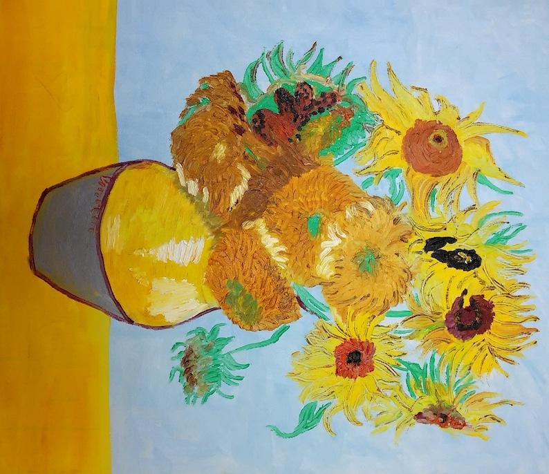 Vincent Van Gogh Sonnenblumen ölgemälde 60 X 50 Cm 24 X 20 Etsy