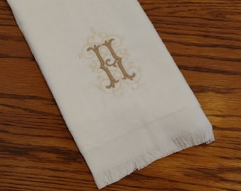 Velour Tea Towel / Small Hand Towel (11x18) Personalized / Monogram  / Gift Set Option - Choose Initial & Embroidery Color! CUSTOM GIFT