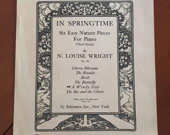 Framable Vintage Sheet Music