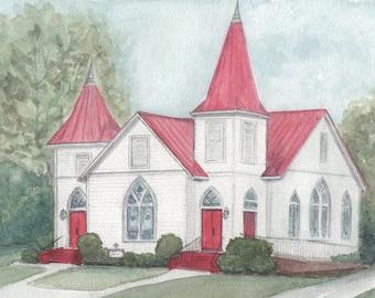Notecards of Mt. Zion-St. Luke Lutheran Church (set of 4)