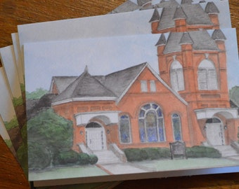 Notecards of Montezuma First Baptist Church (set of 4)