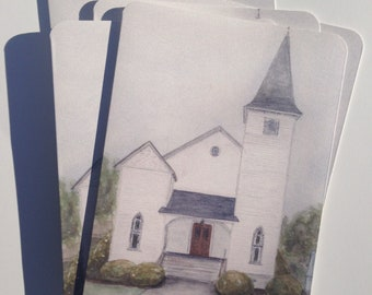 Oglethorpe United Methodist Church Notecards (set of 4)