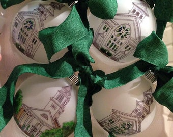 Custom Hand-painted Illustrated Church or Home Ornament
