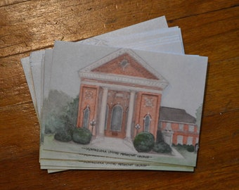 Notecards of Montezuma United Methodist Church (set of 4)