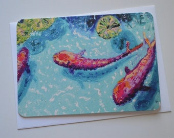 Koi Painting Notecard (single card)