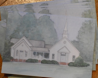 Notecards of Whitewater Baptist Church (set of 4)