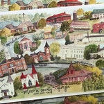 12x18 Print of Macon County Watercolor Collage