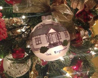 Custom Hand-painted Illustrated Home Ornament