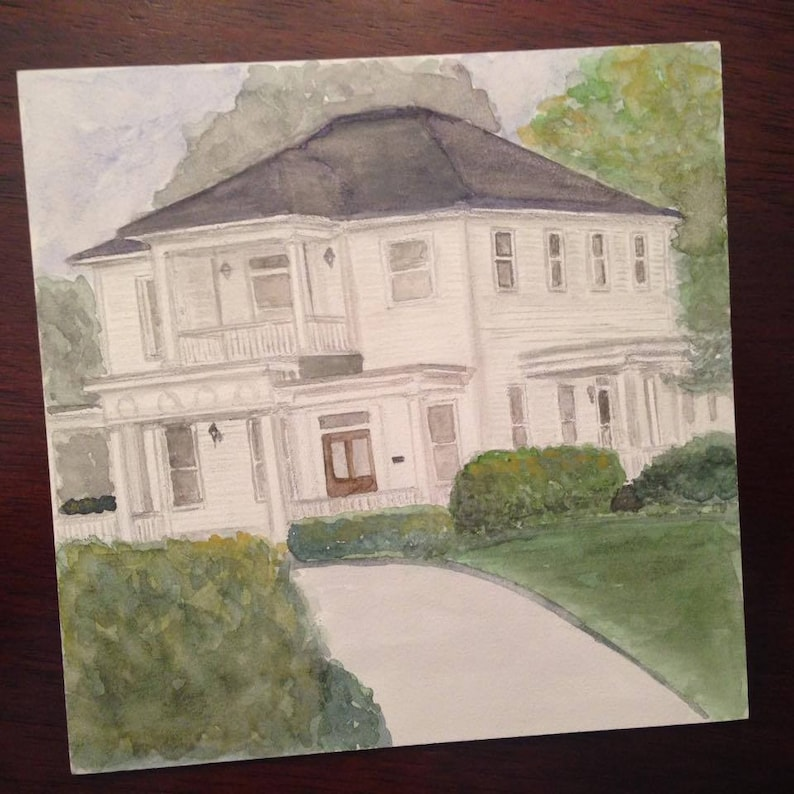 Venue Watercolor Painting Unique Wedding Gift Custom Church image 0
