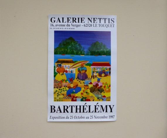 Affiche exposition français vintage le touquet peintre etsy