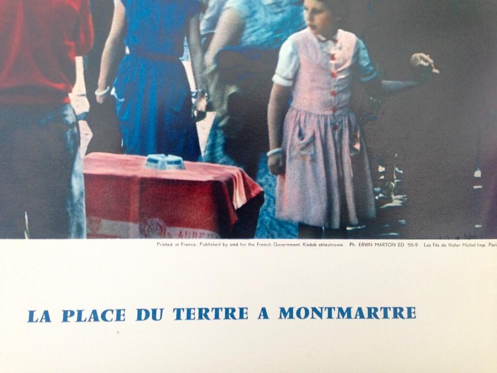 Art print POSTER Palace du Tertre Montmartre 1937