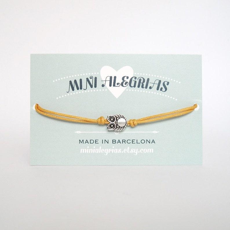 9d6ab0fcfddaf OWL bracelet, minimalist cotton cord friendship bracelet anklet