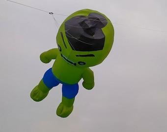 wind sock 3d ripstop softkite,hulk,spiderman, batman Soft inflatable kite 4 meter, soft kite, inflatble kite,line laundry, kite flying, hero